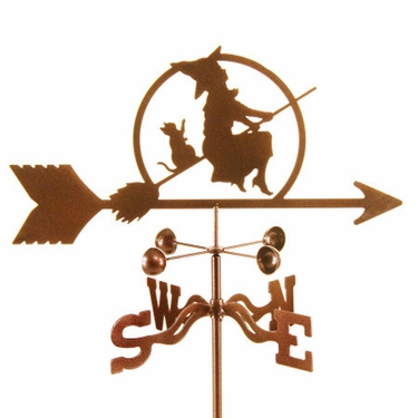 Witch on Broom Weathervane - Click to enlarge