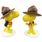 Woodstock Bird Scout w/Brown Hat  (Set of 2)