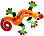 XL Red Diamond Gecko Wall Art