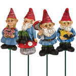 Yard Gnome Plant Stakes (Set of 4) - Multi Color