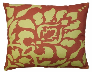Yellow Damask Outdoor Pillow - Click to enlarge