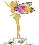 Small Yellow Fairy Stakes (Set of 4)