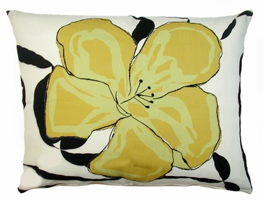 Yellow Flower Outdoor Pillow - Click to enlarge