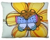 Yellow Flower w/Butterfly Outdoor Pillow