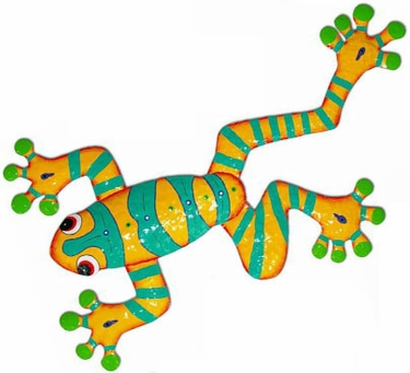 Yellow Green Frog Wall Art - Click to enlarge