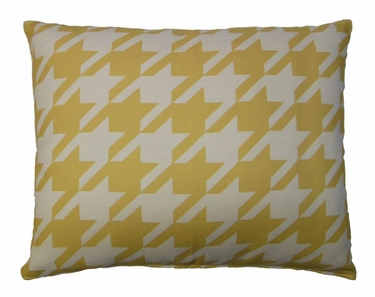 Yellow Houndstooth Outdoor Pillow - Click to enlarge
