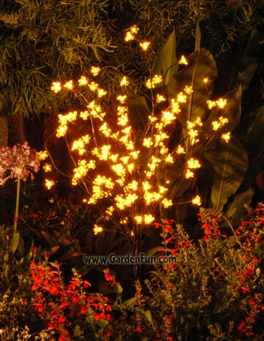 Yellow LED Cherry Blossom Tree - Click to enlarge