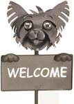 Yorkie Welcome Sign