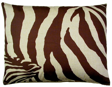 Zebra Chocolate Outdoor Pillow - Click to enlarge