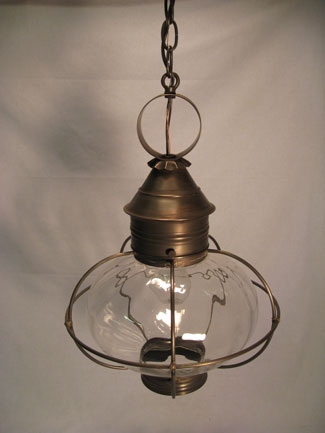 "10"" Round Onion Hanging Fixture - Caged"