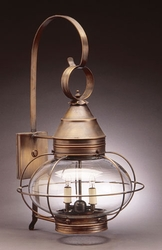 """12"""" Onion Wall Fixture - Caged"""