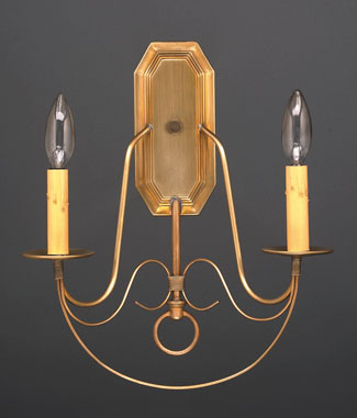 2-Lite Wall Sconce with Fancy Scroll Work