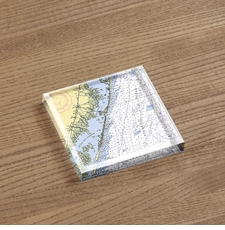 Acrylic Block Paperweight - Your Location