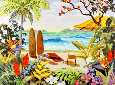 Another Day in Paradise Giclee