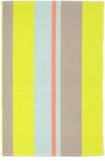 Antibes Stripe Woven Cotton Rug <font color=a8bb36> NEW</font>