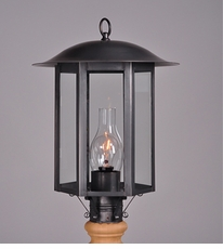Aurora Collection Lamp Post Lantern with Chimney
