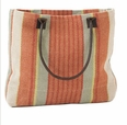Autumn Stripe Woven Cotton Tote Bag