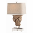 Avignon Hand Carved Solid Wood Fragment/Iron/Acrylic Lamp