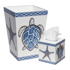 Bath Set with Turtle and Starfish <font color=a8bb35> NEW</font>