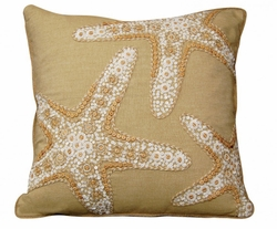 Beaded Starfish Indoor Pillow<font color=a8bb35> NEW</font>