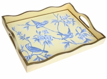 Blue and Yellow Bird Tray