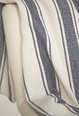 Blue Awning Stripe Throw