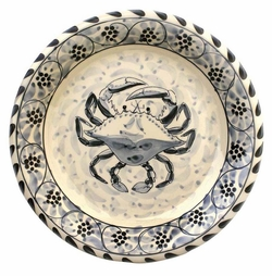 Blue Crab Dinner Plate - Set of 4 <font color=a8bb35> NEW</font>