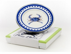 Blue Crab Party Plates Set of Four