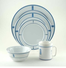 Blue Fish Melamine Dinnerware Collection  with Platter