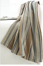 Blue Heron Stripe Throw
