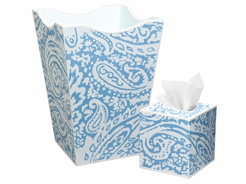 Blue Paisley Bath Set