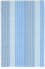 Blue Sky Ticking Woven Cotton Rug <font color=a8bb35> NEW</font>