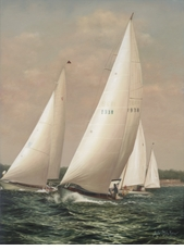 Breezin' Up at Larchmont Giclee