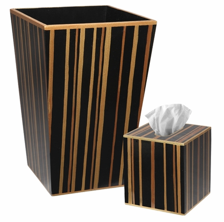 Brown Stripe Bath Set