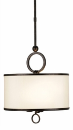 Brownlow Drum Chandelier in Two Sizes <font color=a8bb35> NEW</font>