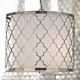 Brushed Nickel Patterned Chandelier