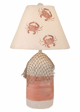 Coral & Cottage Buoy Lamp with Net