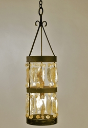 Calibougie Shell Cylinder Chandelier