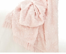 Candlewick Pale Rose Throw