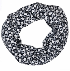 Casablanca Infinity Scarf in Navy/White