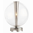 Caviar Polished Nickel/Clear Glass Table Lamp