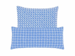 Chadna French Blue Decorative Pillow <font color=a8bb35> NEW</font>