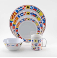 Code Flags Melamine Dinnerware Collection with Platter