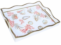 Coral and Shells Tray