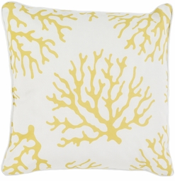 Coral Outdoor Pillow in  Gold<font color=a8bb35> NEW</font>