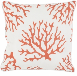 Coral Outdoor Pillow in Rust<font color=a8bb35> NEW</font>