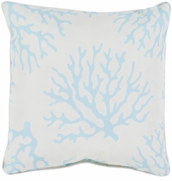 Coral Outdoor Pillow in Teal<font color=a8bb35> NEW</font>