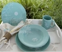 Cottage & Bungalow 16-Piece Table in Marine Aqua
