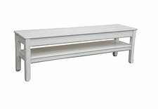Cottage Planked Console Bench <font color=a8bb35> Most colors stocked</font>