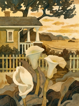 Craftsman Cottage By The Sea Giclee